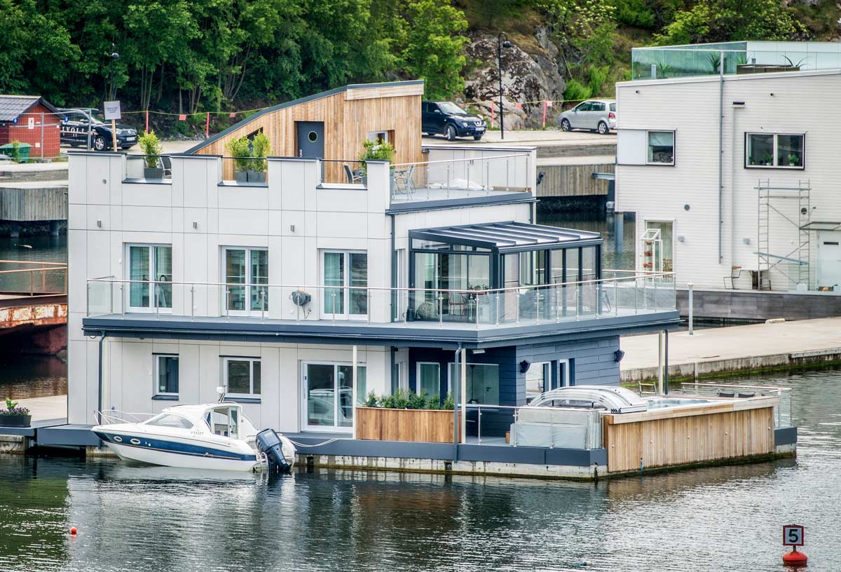 Exklusiv husbåt
