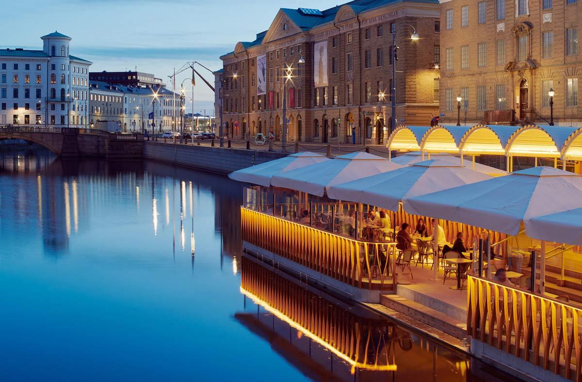 Flytande restaurangen vid Tyska bron i Göteborg